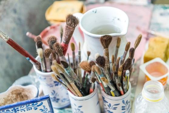 Pinsel Keramikfabrik Lagoa Azoren