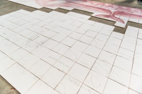 Mosaik aus Fliesen Azoren