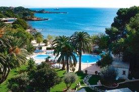 Pool und Meerblick des Hotel Son Caliu Hotel & Spa Oasis bei OLIMAR Reisen