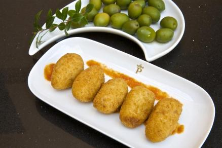 Kroketten Oliven Tapas Spanien