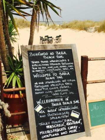 Menu Bahia BeachBar