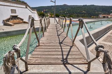 Holzbrücke Monchique Thermalquellen