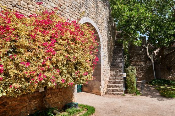 Burgmauer Steintreppe Algarve