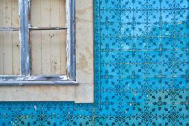 Kacheln Azulejos Hausfassade