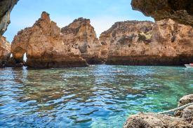 Felsen Meer Algarve Boot