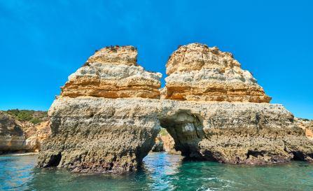 Steinformation Tour Küste Algarve Höhlen
