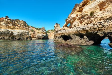 Küste kristallklares Wasser Urlaub Algarve