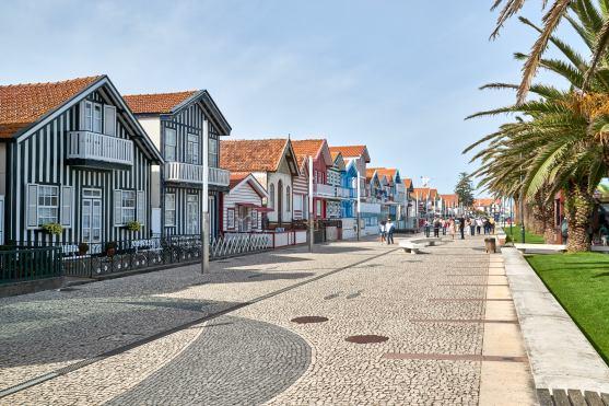 Bunte Häuser in Aveiro