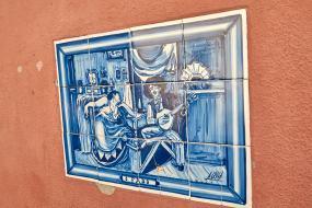Azulejo Fado Alfama Lissabon