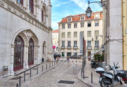 Straßen in Altstadt von Lissabon