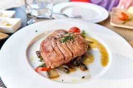 Portugal Restaurant Essen auf Teller
