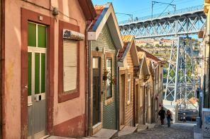 Gasse Stadt Porto Portugal