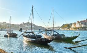 Schiffe Hafen Stadt Porto Portugal