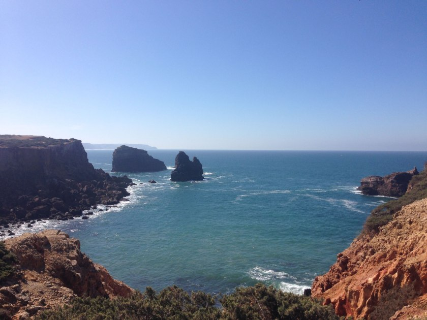 Panorama Küste Felsen Portugal Wandern Rota Vicentina