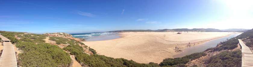 Panorama Praia Bordeira Aussichtspunkt Rota Vicentina