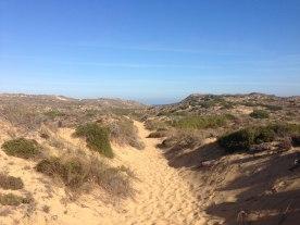 Sandiger Fischerpfad Rota Vicentina Praia Bordeira
