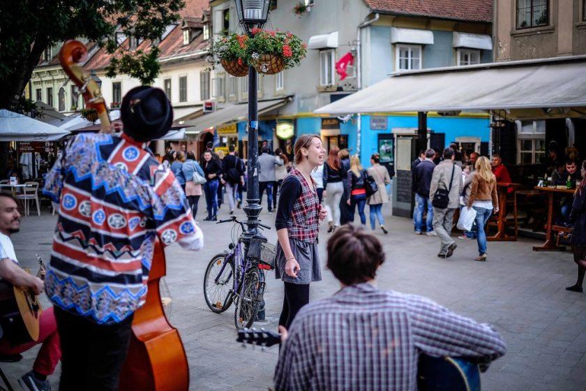 Straßenmusiker Zagreb Ausflug Stadt