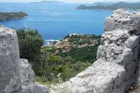 Ausblick auf Küste Wanderung Kroatien