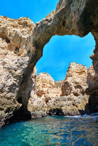 Höhlen bei Lagos Felsküste