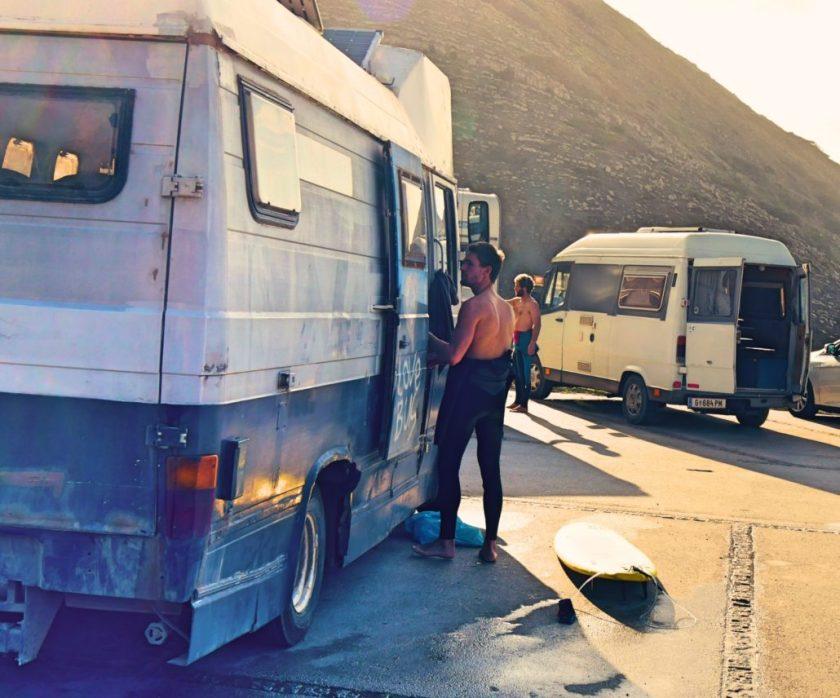 Camper und Surfer Algarve