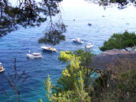 Amalfiküste Positano Hafenbucht