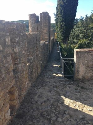 Auf der Burgmauer Tomar Centro Portugal