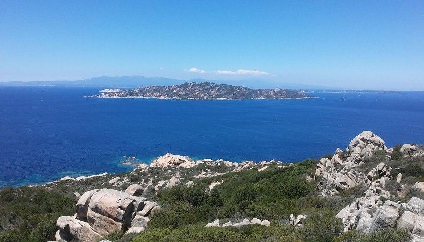 Blick auf La Maddalena Archipel