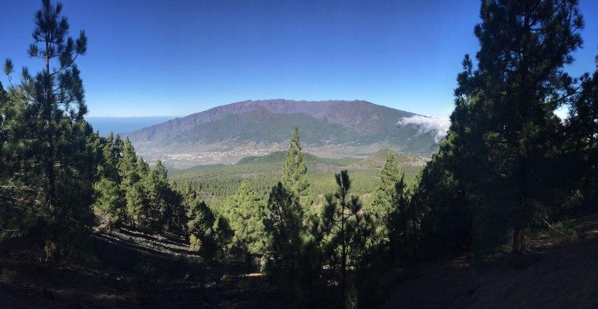 Blick auf Caldera La Palma
