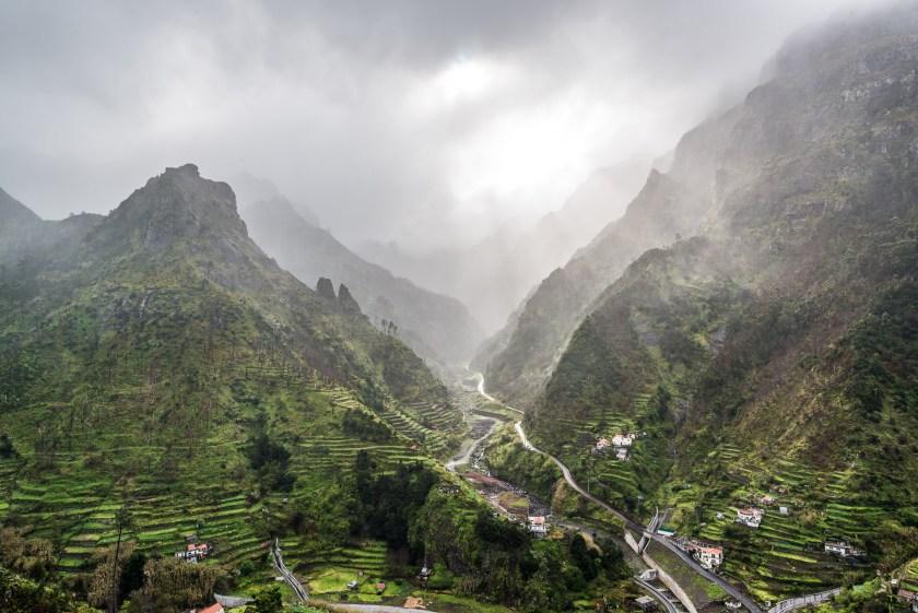 Madeira Schlucht in Wolken