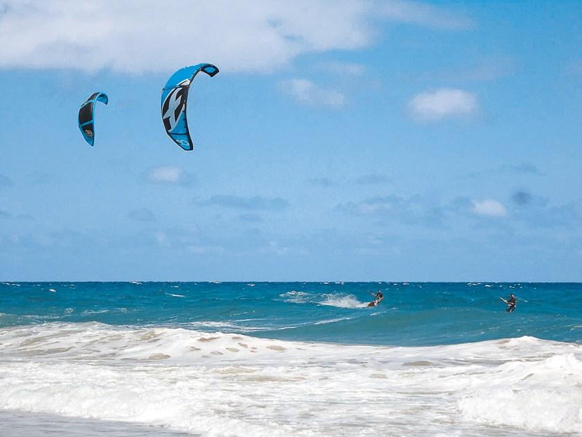 Kitesurfer auf Porto Santo