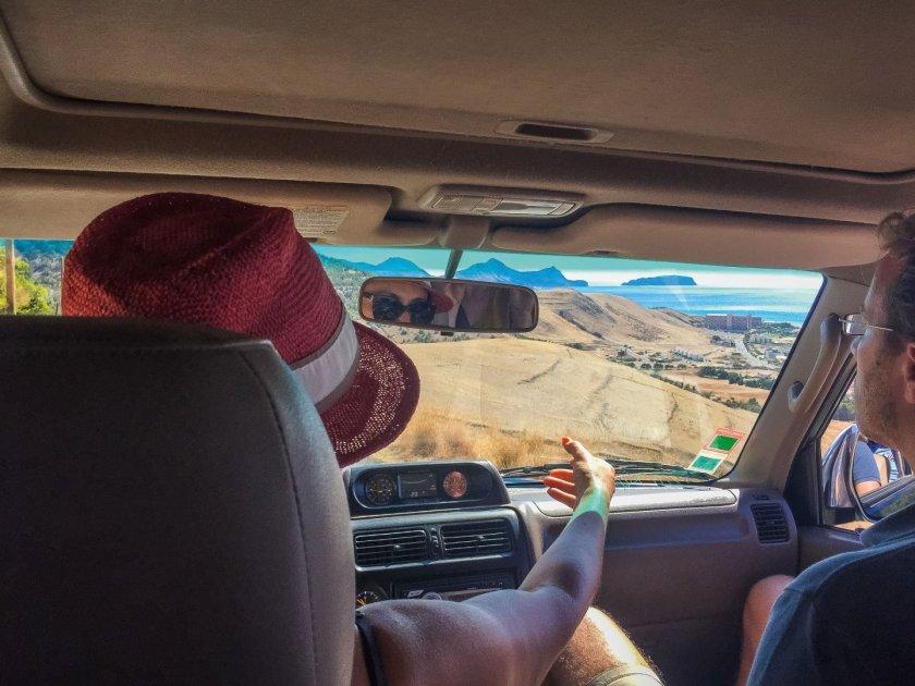 Im Jeep auf Porto Santo