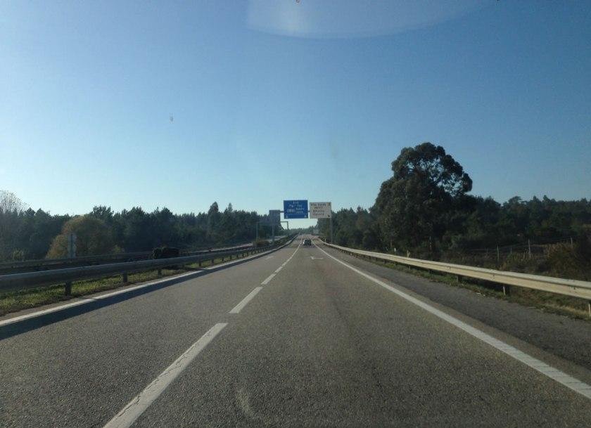 Leere Autobahn Portugal