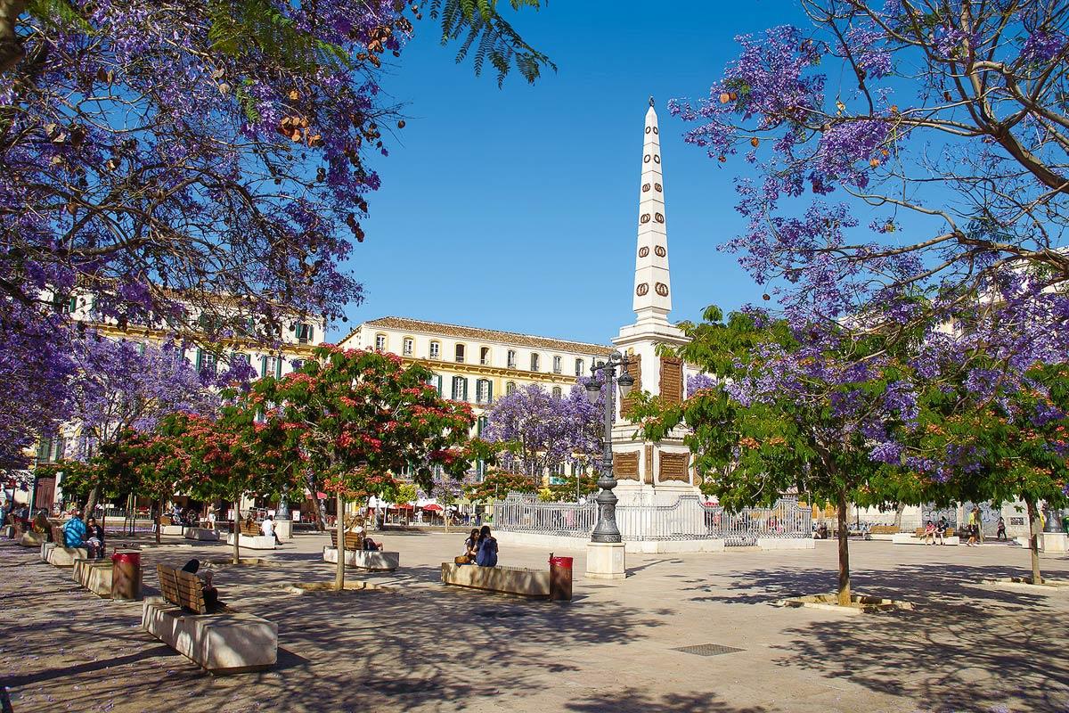 Andalusien Málaga Plaza de la Merced