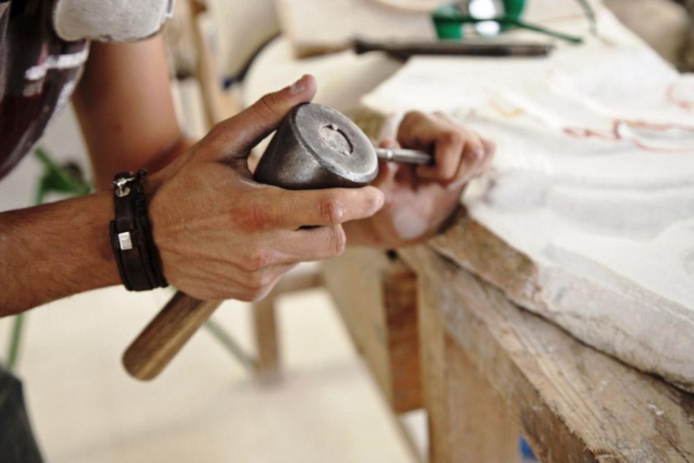Künstler Marmor Alentejo