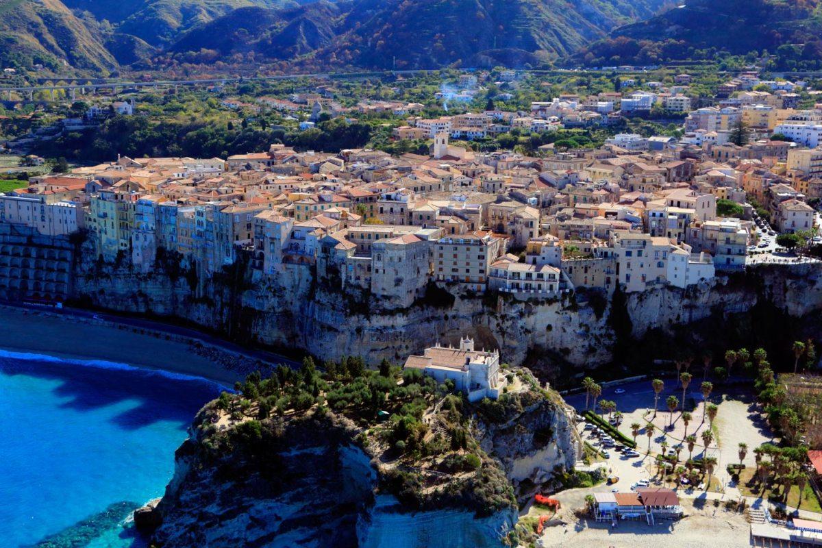 Italien Tropea Panoramablick