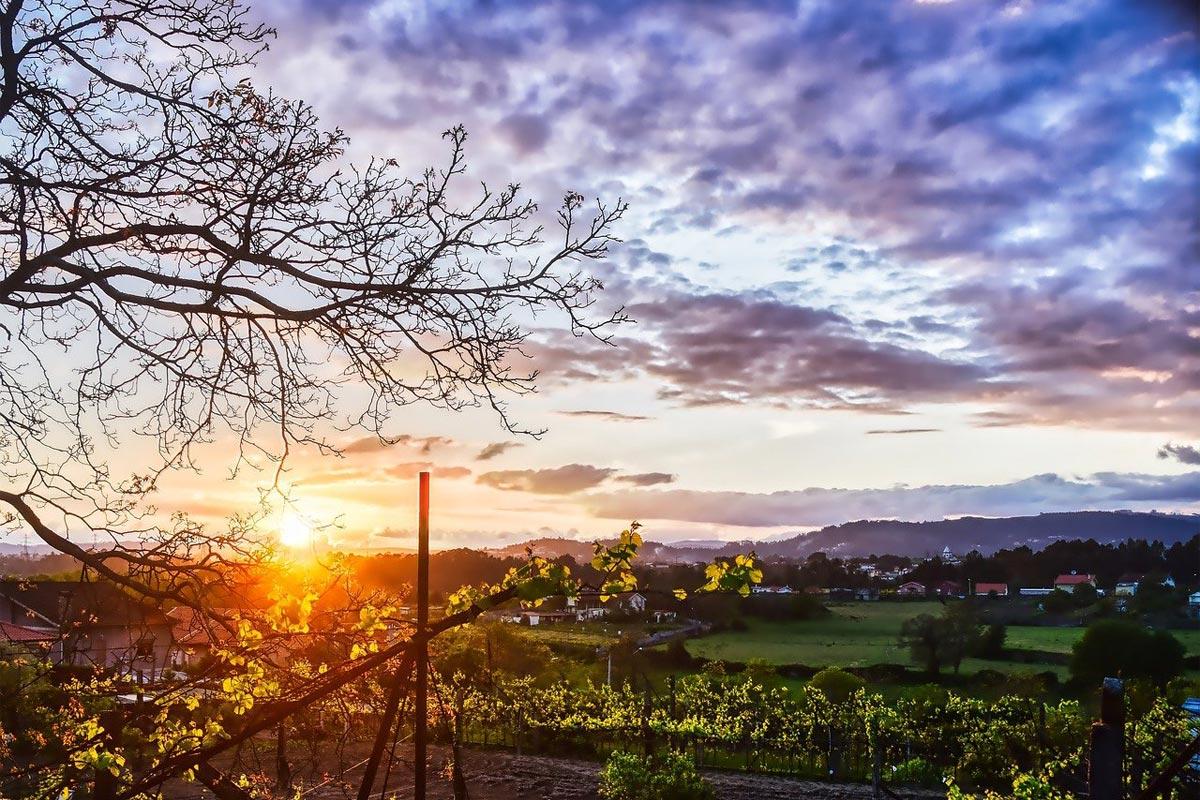 Portugal Minho Region Sonnenuntergang