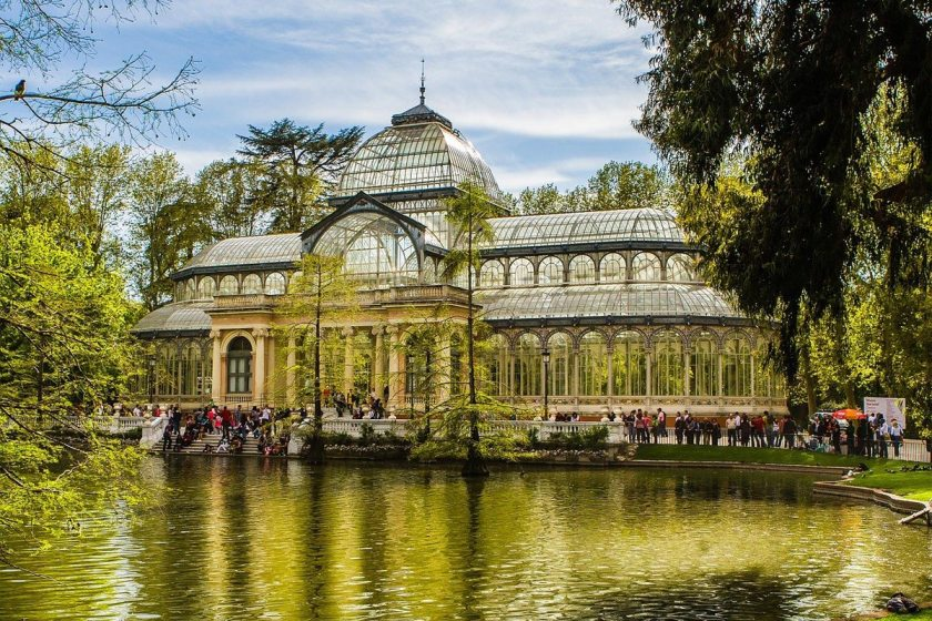 Retiro-Park mit Palacio Cristal, Madrid