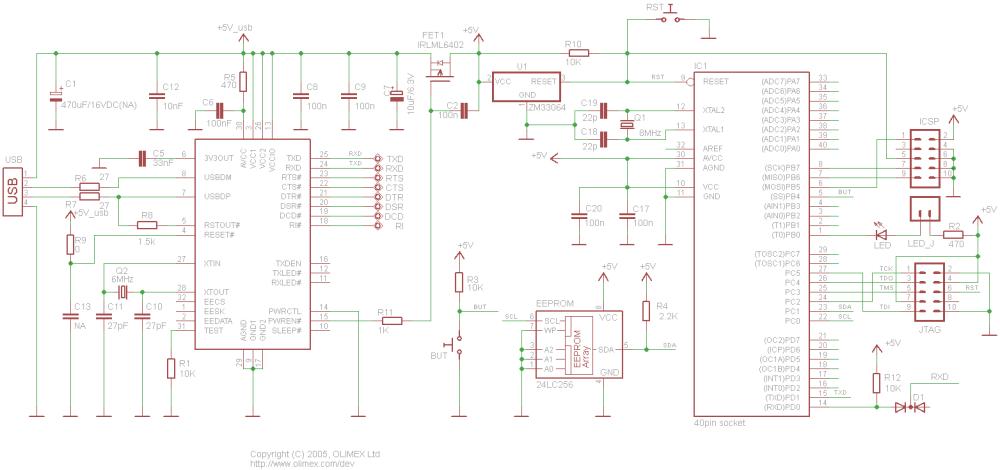 medium resolution of avr p40 usb schematic