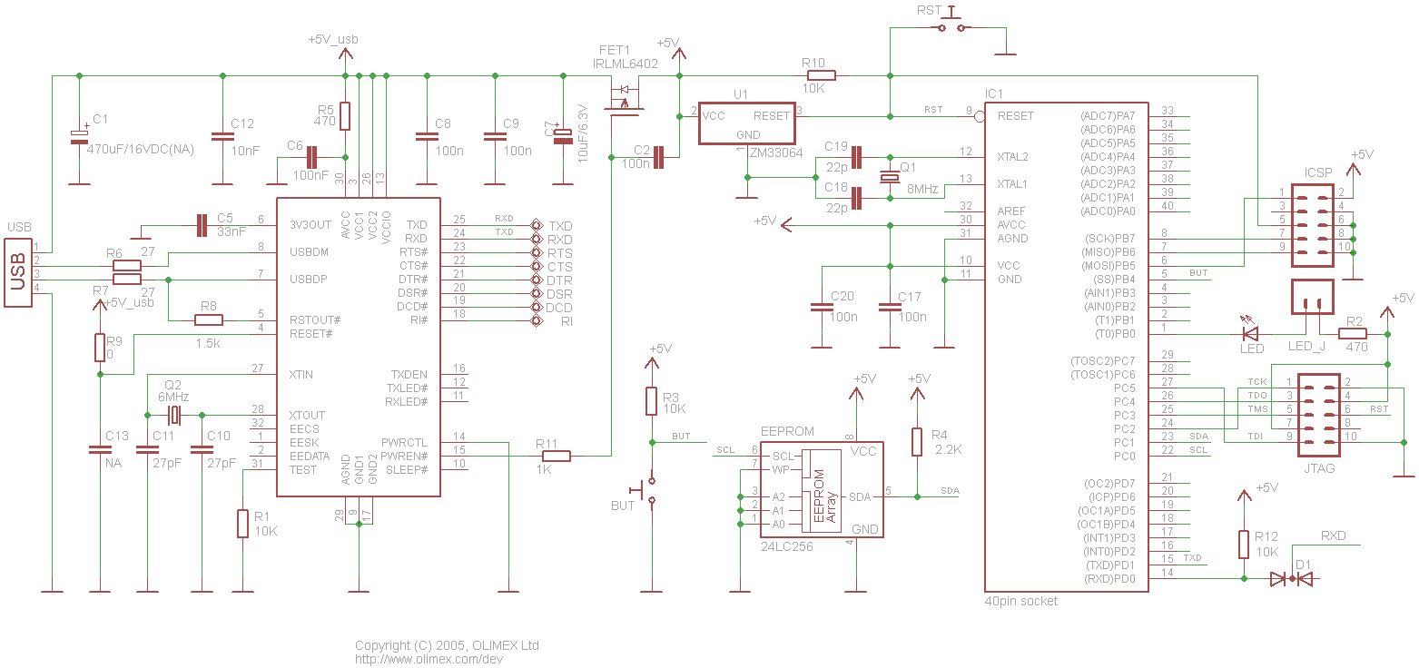 hight resolution of avr p40 usb schematic