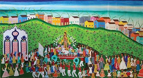 Obra da artista plástica Gina. Foto: Daniela Nader e Elvio Luiz