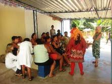 Artes educadores exibiram peça teatral para os presentes. Foto: Secretaria de Saúde de Olinda.