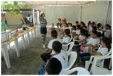 Alunas de escolas municipais participam de atividades de educação ambiental no Centro de Educação Ambiental – Espaço Bonsucesso (CEA) em 2010. Foto: Passarinho/Pref.Olinda