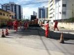A Rua Otaviano Pessoa Monteiro, em Casa Caiada, já começou a ser recapeada. Foto: Secretaria de Serviços Públicos