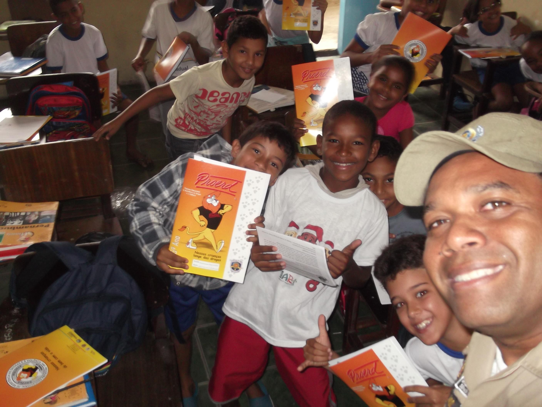 Programa sendo posto em prática na sala de aula. Foto: Proerd/Divulgação