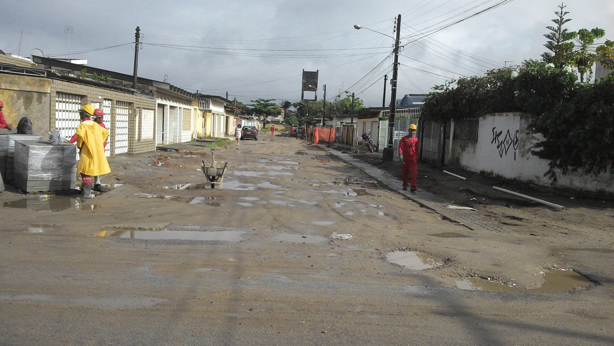 A Rua Amazonas antes de passar por obras. Foto: Secretaria de Obras de Olinda