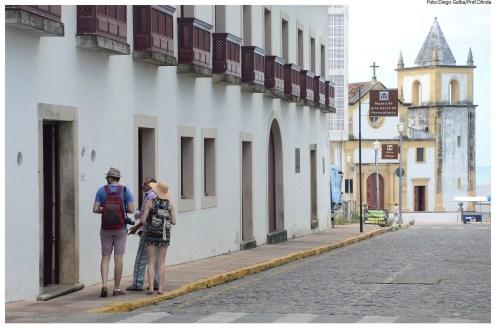 Alto da Sé reformado recebe turistas. Foto: Diego Galba/Pref.Olinda