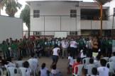 Equipes da Secretaria de Educação, Esportes e Juventude; e da Secretaria de Saúde participaram da atividade na Escola Monsenhor Fabrício, em Peixinhos. Foto: Tiago Peixoto/Pref.Olinda