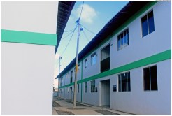 Novas unidades habitacionais de Jardim Fragoso, localizadas na Rua Humberto de Lima Mendes. Foto: Monique Veloso/Pref.Olinda