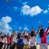 Orla da praia de Olinda sedia programação de atividades da Campanha do 'Basta da Violência Contra a Mulher'. Foto: Wilson Maranhão Secom Olinda