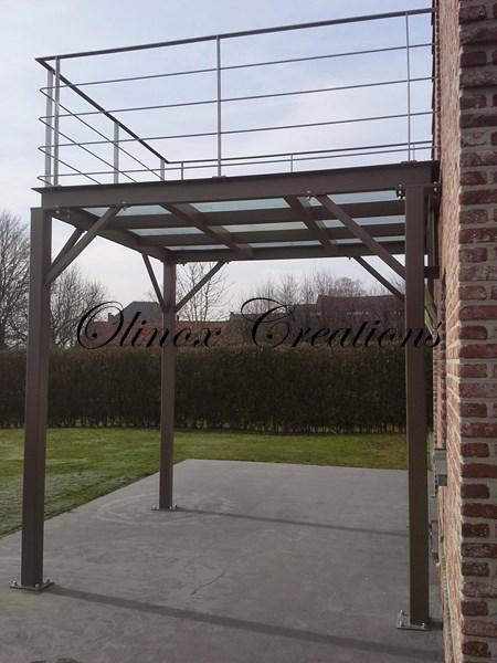 Terrasse Suspendue En Bois Balcon Inox Et Metal